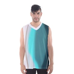 Turquoise Abstract Men s Basketball Tank Top
