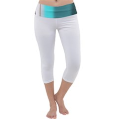 Turquoise Abstract Capri Yoga Leggings