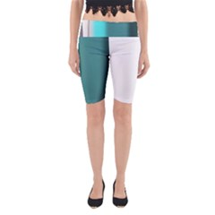 Turquoise Abstract Yoga Cropped Leggings