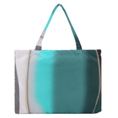 Turquoise Abstract Medium Zipper Tote Bag