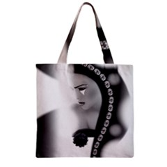 Silence Of Beauty Zipper Grocery Tote Bag