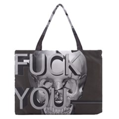 Fuck You Medium Zipper Tote Bag