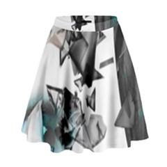 Blue Eye High Waist Skirt