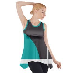 Turquoise Line Side Drop Tank Tunic