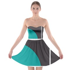 Turquoise Line Strapless Bra Top Dress