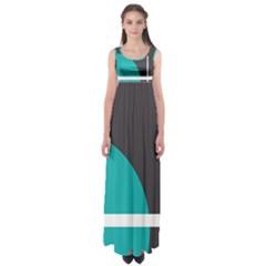 Turquoise Line Empire Waist Maxi Dress