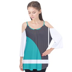 Turquoise Line Flutter Tees