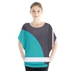 Turquoise Line Blouse