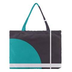 Turquoise Line Medium Tote Bag