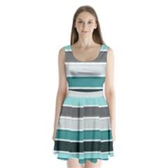 Blues Split Back Mini Dress