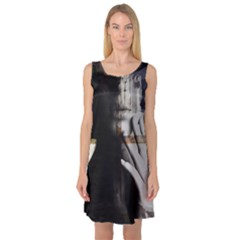 Burnt Sleeveless Satin Nightdress