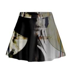 Burnt Mini Flare Skirt