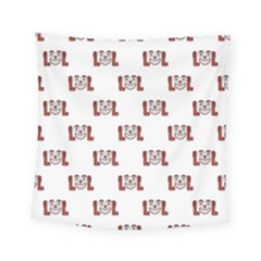 Lol Emoji Graphic Pattern Square Tapestry (Small)