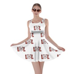 Funny Emoji Laughing Out Loud Pattern  Skater Dress
