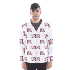 Funny Emoji Laughing Out Loud Pattern  Hooded Wind Breaker (Men)