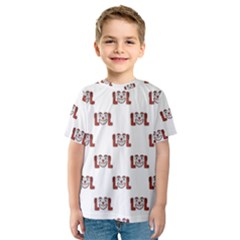 Funny Emoji Laughing Out Loud Pattern  Kids  Sport Mesh Tee