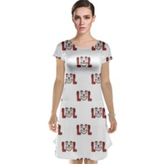 Funny Emoji Laughing Out Loud Pattern  Cap Sleeve Nightdress