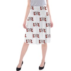Funny Emoji Laughing Out Loud Pattern  Midi Beach Skirt