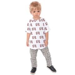 Funny Emoji Laughing Out Loud Pattern  Kids  Raglan Tee