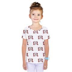 Funny Emoji Laughing Out Loud Pattern  Kids  One Piece Tee