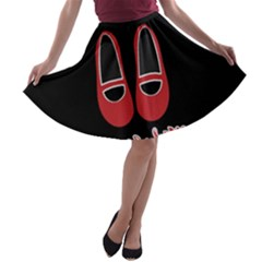 There Is No Place Like Home A Line Skater Skirt