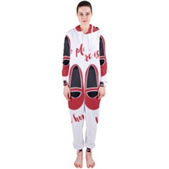 There is no place like home Hooded Jumpsuit (Ladies)