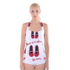 There is no place like home Boyleg Halter Swimsuit