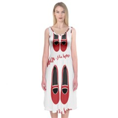 There is no place like home Midi Sleeveless Dress