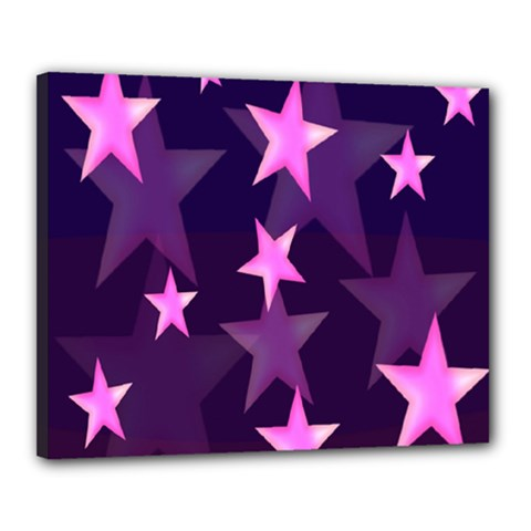 Background With A Stars Canvas 20  x 16