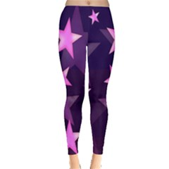 Background With A Stars Leggings