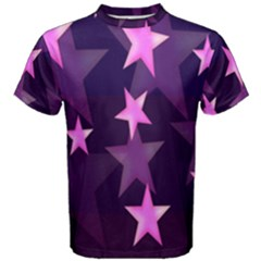 Background With A Stars Men s Cotton Tee