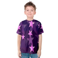 Background With A Stars Kids  Cotton Tee