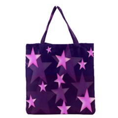 Background With A Stars Grocery Tote Bag