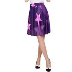Background With A Stars A-Line Skirt