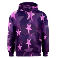 Background With A Stars Men s Pullover Hoodie