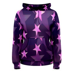 Background With A Stars Women s Pullover Hoodie
