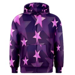 Background With A Stars Men s Zipper Hoodie