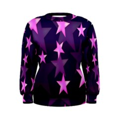 Background With A Stars Women s Sweatshirt