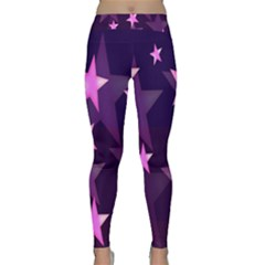 Background With A Stars Classic Yoga Leggings