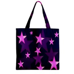 Background With A Stars Zipper Grocery Tote Bag