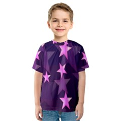 Background With A Stars Kids  Sport Mesh Tee
