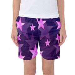 Background With A Stars Women s Basketball Shorts