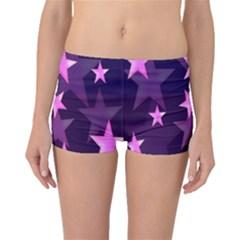 Background With A Stars Boyleg Bikini Bottoms