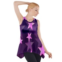 Background With A Stars Side Drop Tank Tunic