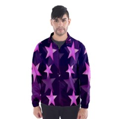 Background With A Stars Wind Breaker (men)