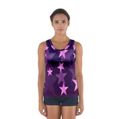 Background With A Stars Women s Sport Tank Top