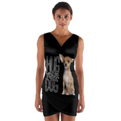 Chihuahua Wrap Front Bodycon Dress