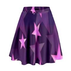 Background With A Stars High Waist Skirt