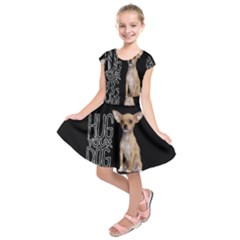 Chihuahua Kids  Short Sleeve Dress