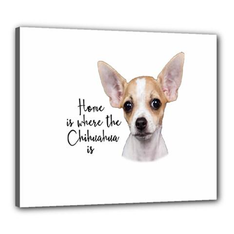 Chihuahua Canvas 24  x 20